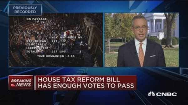 House tax reform bill passes