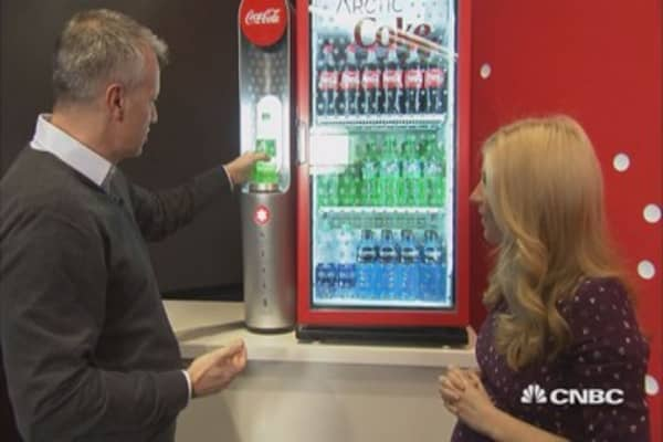 Watch Coca-Cola's new gadget turn sodas into slushees in seconds