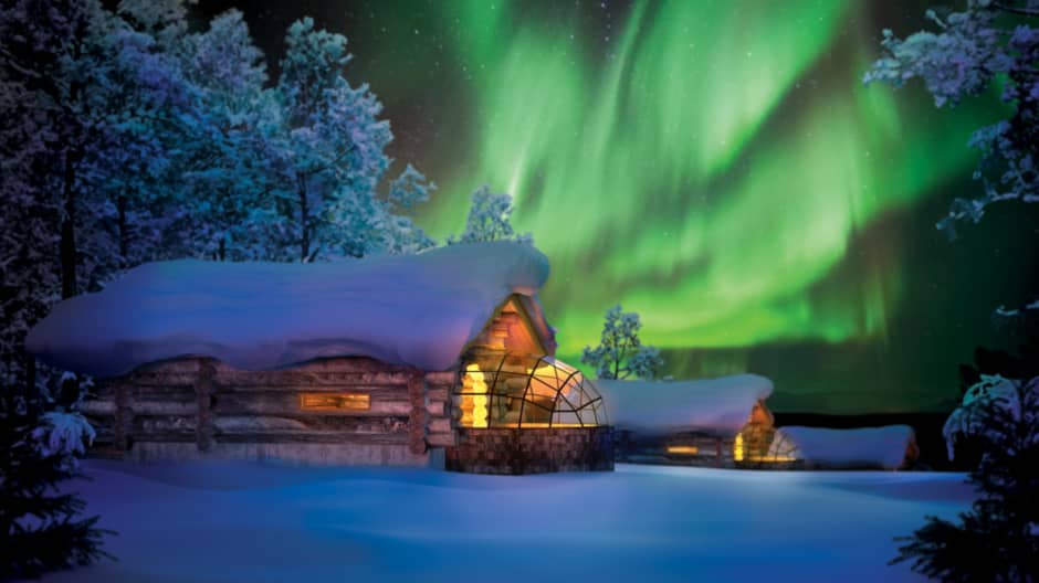This is the best way to see the Northern Lights—from a glass igloo hotel