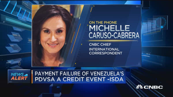 Payment failure of Venezuela's PDVSA a credit event