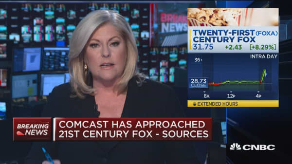 Comcast has approached 21st Century Fox: Report
