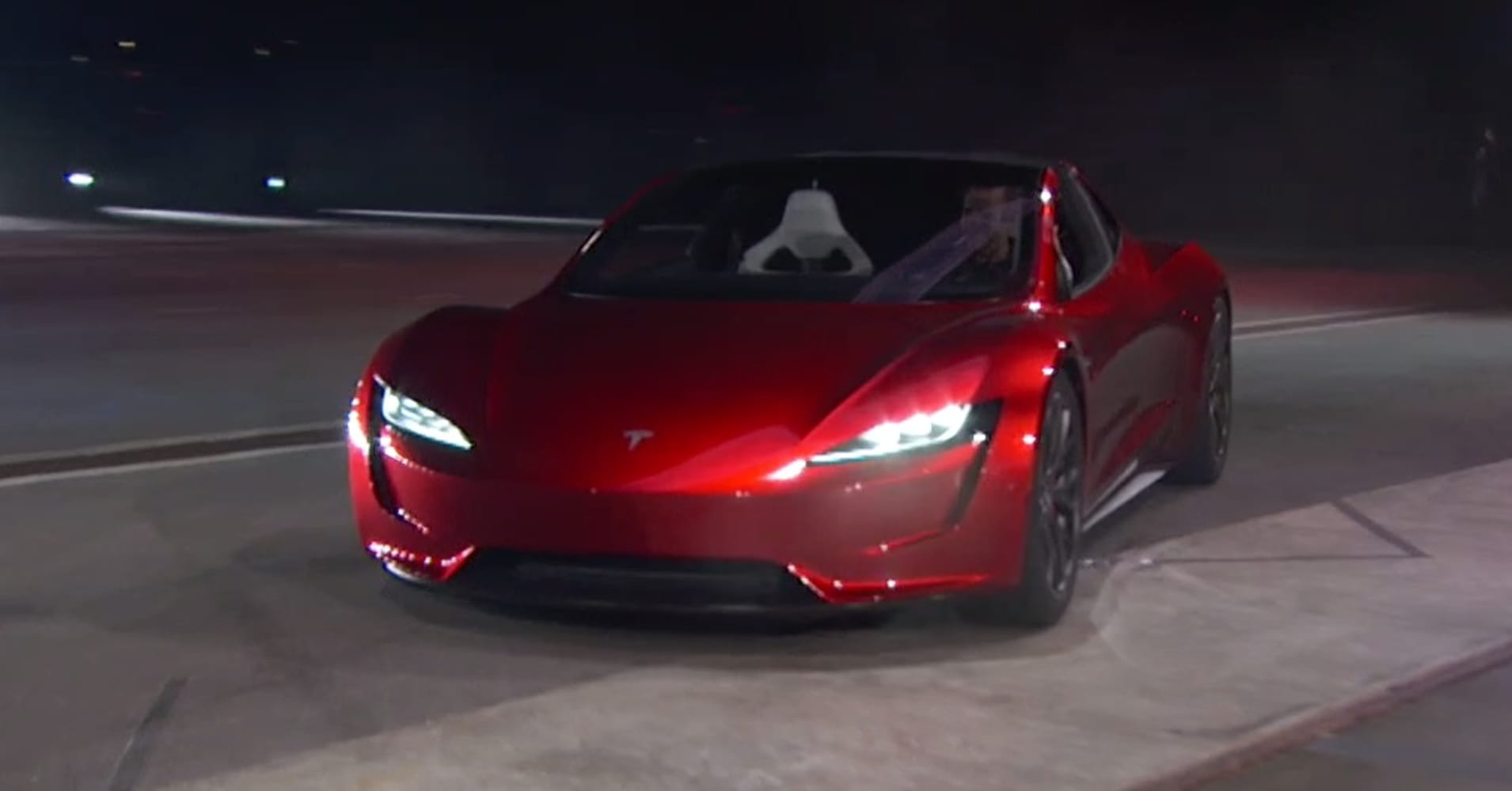 Tesla CEO Elon Musk Unveils A Surprise New Car A New Roadster - Fast car photo