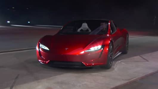 Tesla S New Roter Is Unveiled During A Ation In Hawthorne California U November