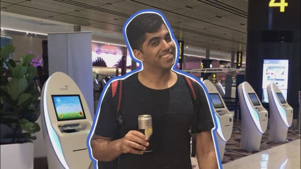 We got through Changi Airport's new terminal without speaking to a single human (almost)