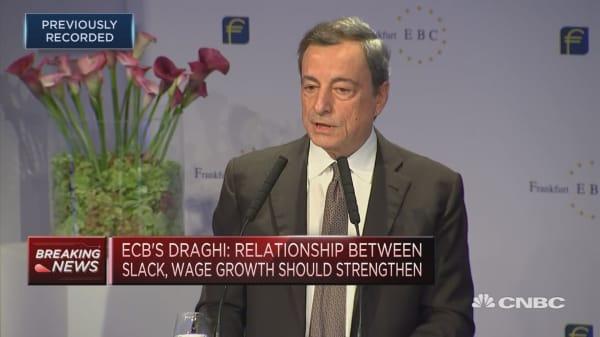 Draghi: E-commerce not depressing inflation
