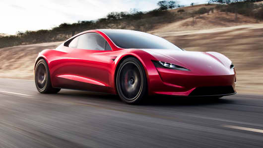 Tesla's Roadster uses a rechargeable lithium battery that has been the standard for electric vehicles.