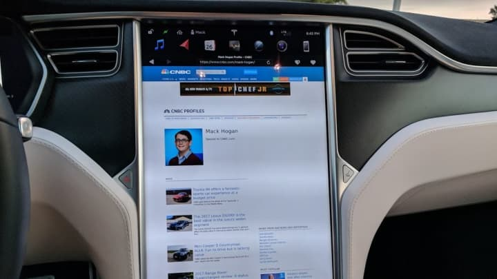 Tesla's web browser is cool but slow