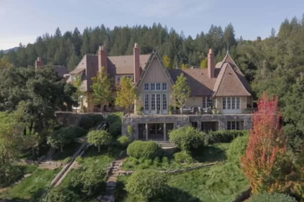 This incredible Napa Valley mansion with its own vineyard is a wine lover's dream come true