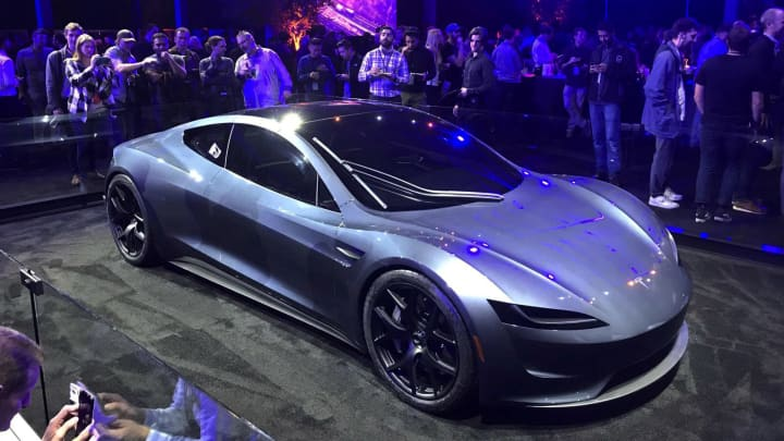 Tesla's new Roadster is unveiled during a presentation in Hawthorne, California, U.S., November 16, 2017.