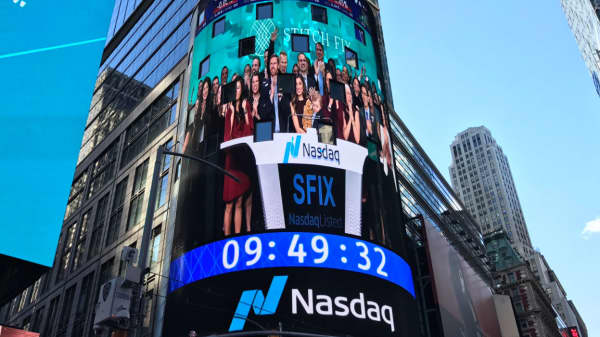 The Stitch Fix IPO at the Nasdaq, November 17, 2017.