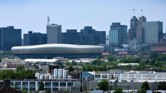 The downtown Newark skyline.