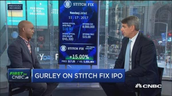 Benchmark's Bill Gurley: Stitch Fix using big data at an 'unprecedented' level in retail