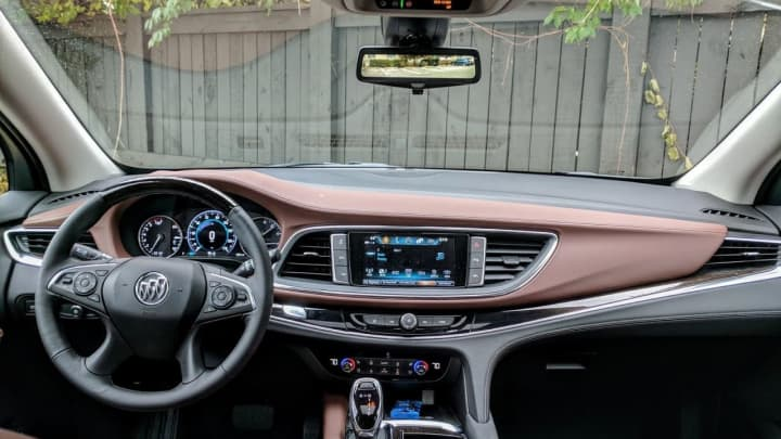 View from the driver seat of the 2018 Buick Enclave Avenir