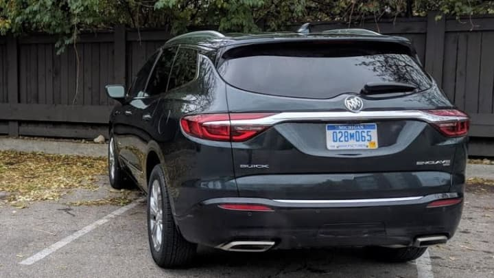 The back of the 2018 Buick Enclave Avenir