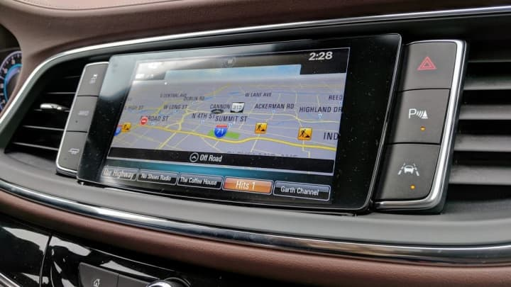A peek at the in-dash entertainment system