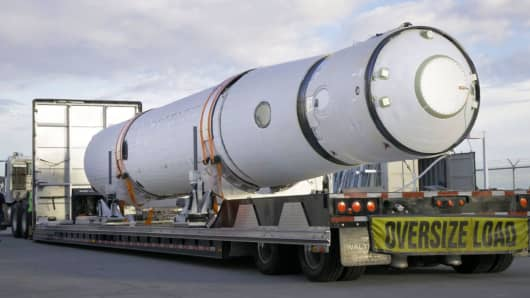 A Virgin Orbit LauncherOne rocket