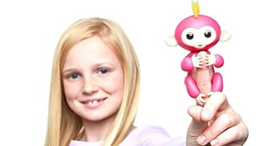 A pink Fingerling from toy maker WowWee