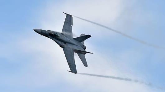 A file photo of a F/A-18