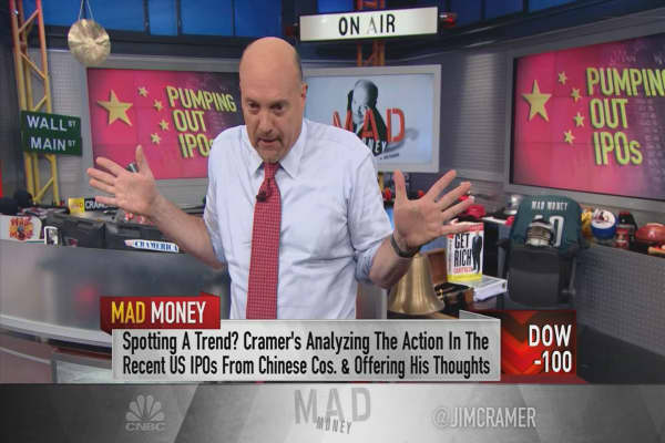 Cramer says homegamers should stay away from the red-hot Chinese IPO market