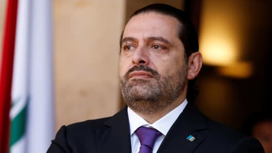 Lebanon's Prime Minister Saad al-Hariri.