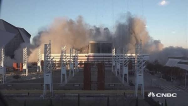 Watch Georgia Dome implosion