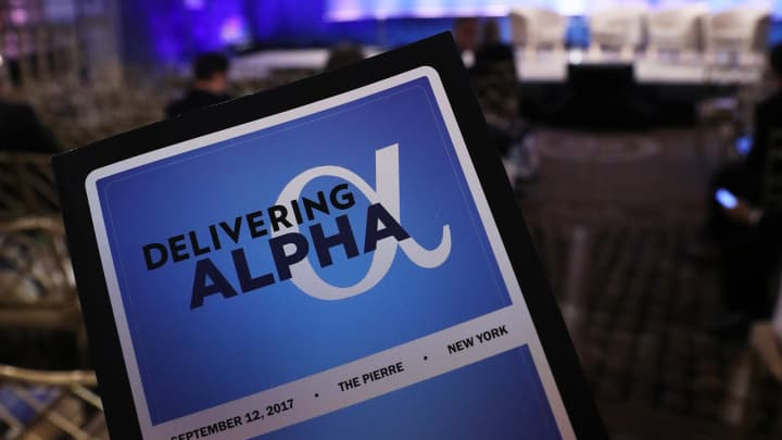 Delivering Alpha 2017 stage, signage, agenda