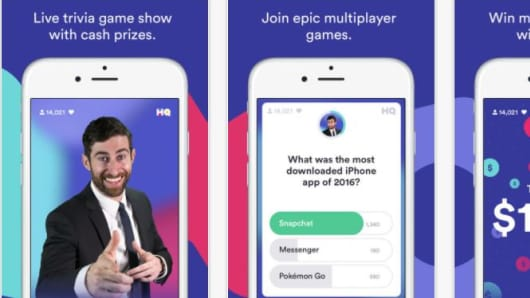 HQ Trivia is a live trivia game for cash prizes, created by two co-creators of Vine.