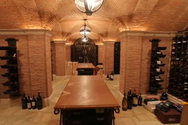 The wine cellar was a million-dollar build.