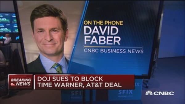 Faber on DOJ blocking AT&T/Time Warner merger: DOJ officials are confident they will prevail in court