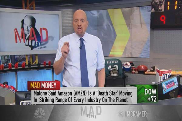 Malone interview makes Cramer more bullish on Netflix and Amazon