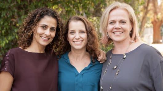 HopSkipDrive cofounders: Carolyn Becher, Joanna McFarland and Janelle McGlothlin