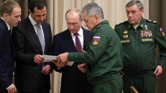 Image result for Putin and Assad in sochi