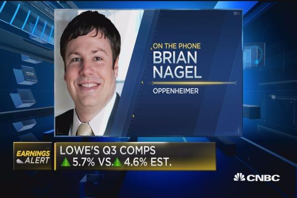 Lowe's beats Street, Q3 comps up 5.7%
