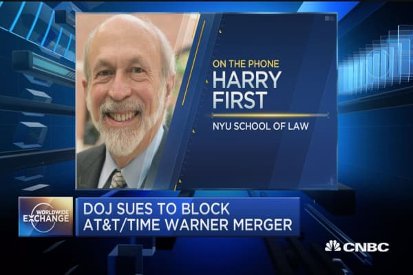 Implications of the DOJ's suit against ATT-Time Warner on future mergers