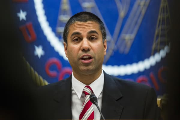 Ajit Pai, chairman of the Federal Communications Commission (FCC).