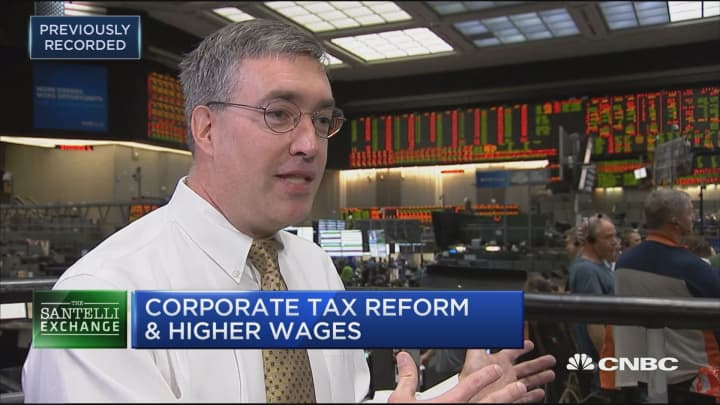 Santelli Exchange: Corporate tax reform and higher wages