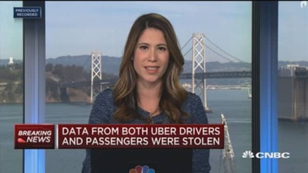 Data stolen from both Uber drivers and passengers in recent cyber hack