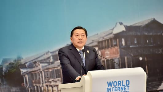 Lu Wei, former head of China's internet regulator, at the Second World Internet Conference on Dec. 18, 2015 in Jiaxing, Zhejiang Province of China.