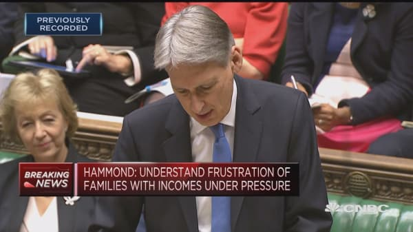 UK productivity performance continues to disappoint, says UK Chancellor Hammond