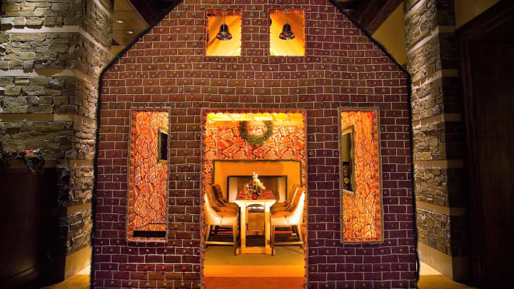 Dine-in gingerbread house at Ritz-Carlton Dove Mountain.