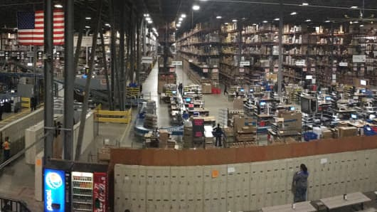 Dotcom Distribution center in New Jersey.
