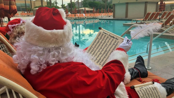 The $15,000 Christmas Eve package at Renaissance Indian Wells Resort & Spa near Palm Springs, CA include breakfast with Santa and $2,000 towards a shopping spree.