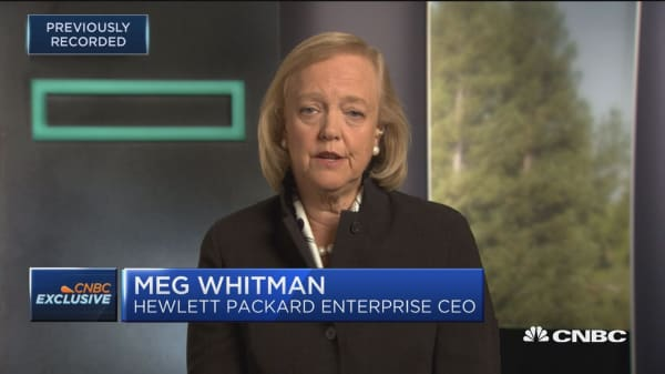 HPE's Meg Whitman: Hiring women executives has 'stalled out'
