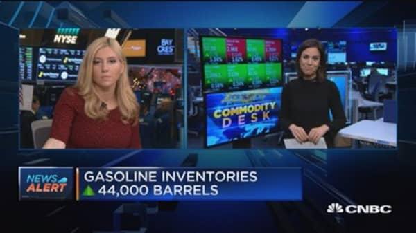Crude oil inventories down 1.9 million barrels