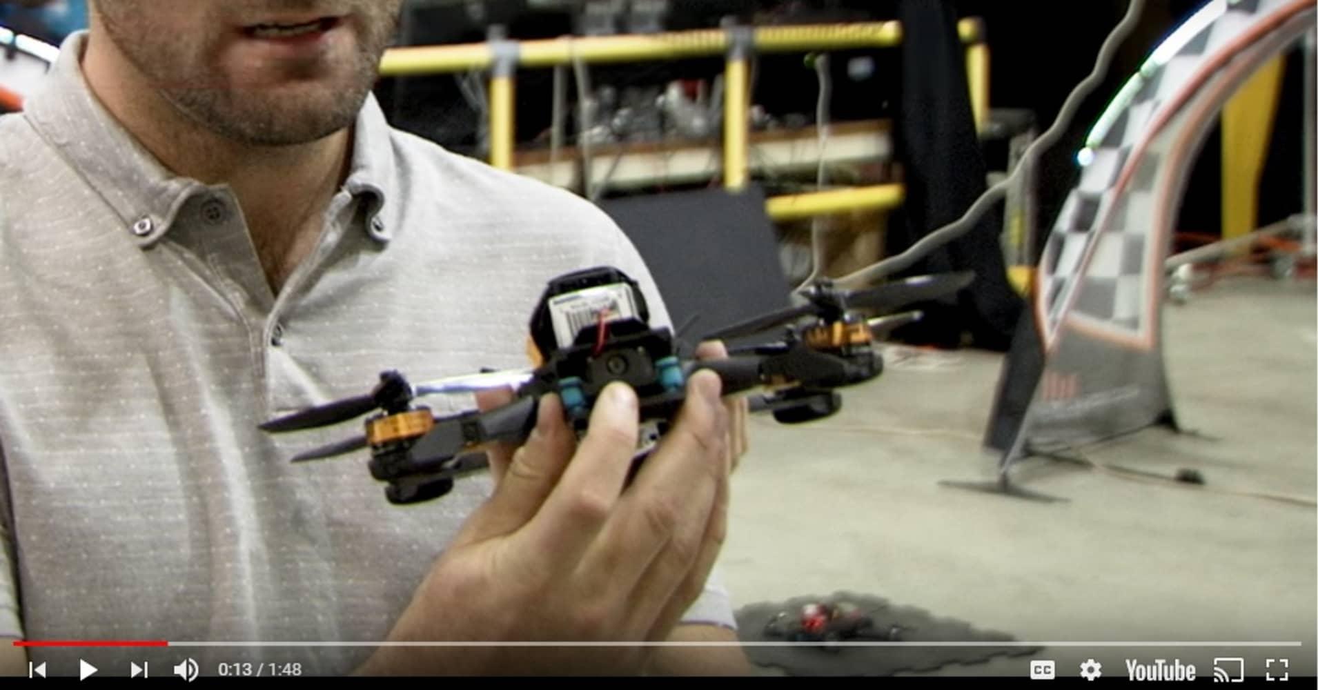 NASA scientists build autonomous drones and raced them against a world-class human drone racer.