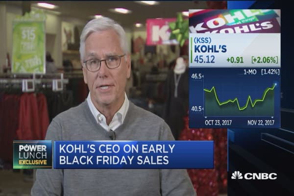 Kohl's CEO Kevin Mansell: Opening on Thanksgiving puts the customer first