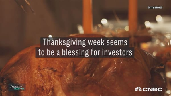 More upside for investors around thanksgiving week and the week after