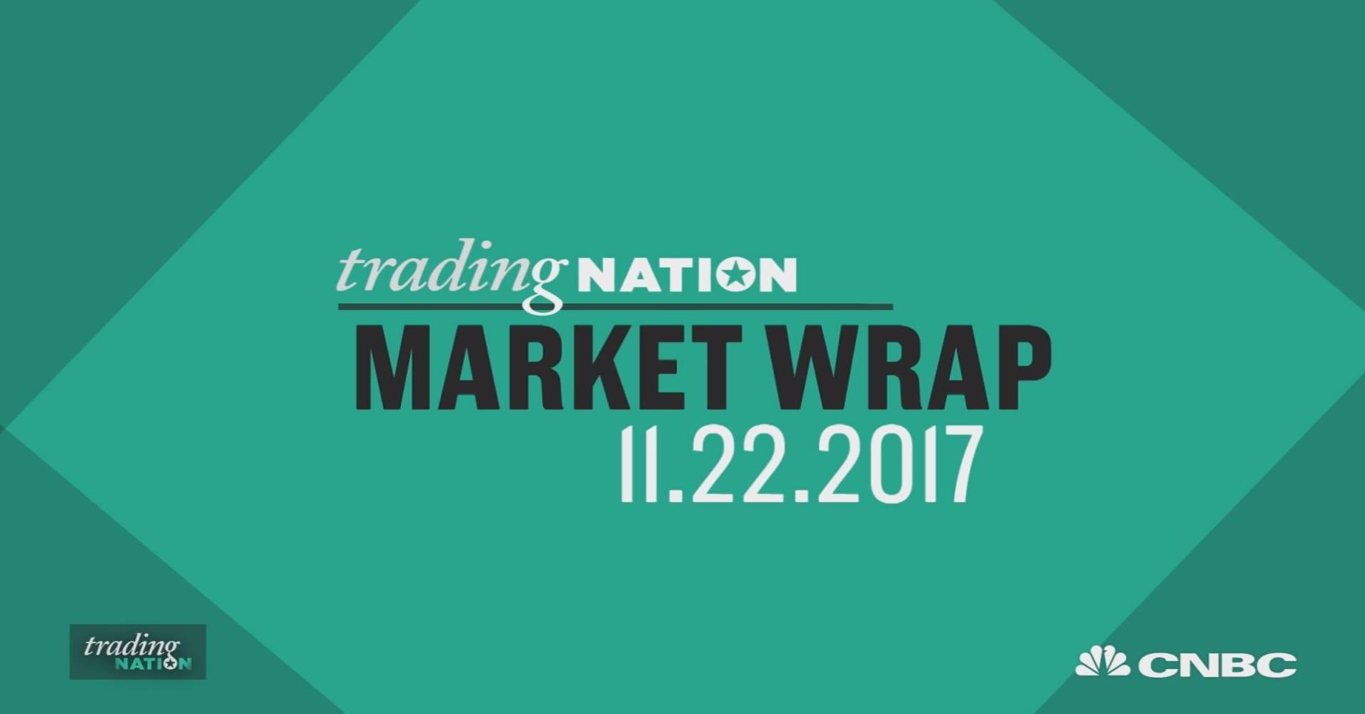 Nasdaq closes at record high as amazon jumps 1 heading into thanksgiving dow and sp 500 fall nasdaq rises buycottarizona