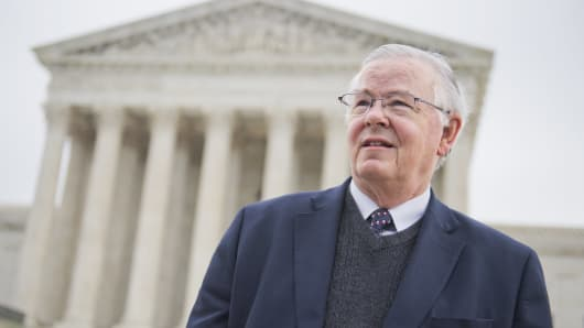 Republican Rep. Joe Barton of Texas attends a rally outside of the Supreme Court
