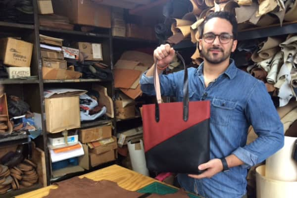 Matthew Demeo sells his handmade leather goods on Etsy and is participating in Small Business Saturday for the first time this year.